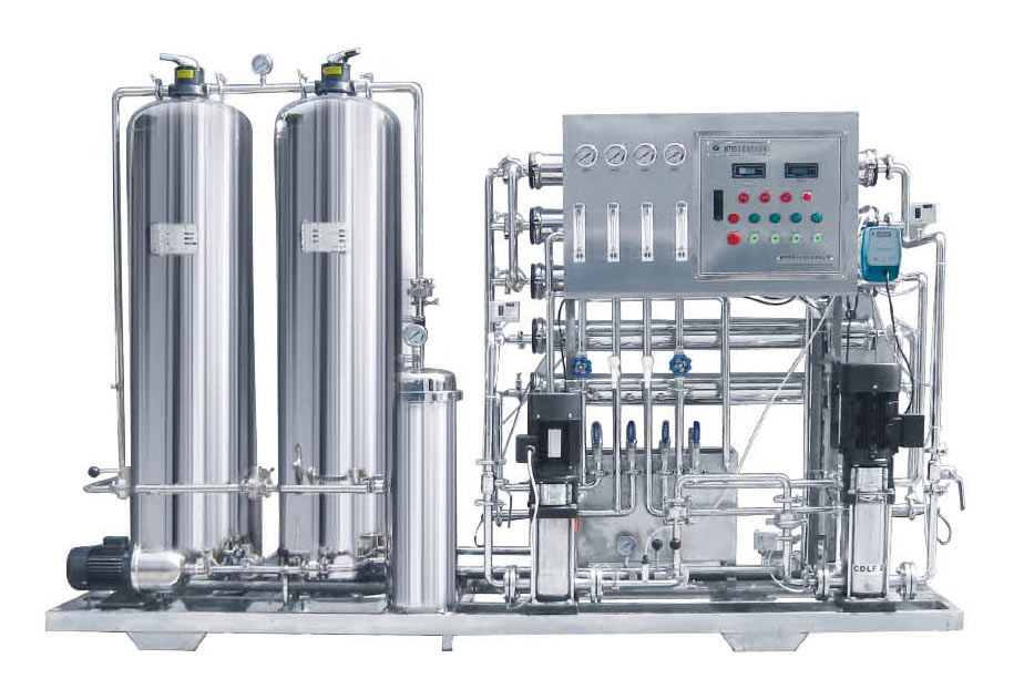 Capacity 0.5m3/h two stage Reverse Osiosis pure water equipment